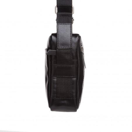 Crossbody kožená kapsička, čierna