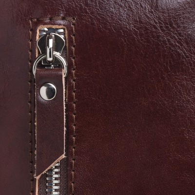 Crossbody kožená kapsička, hnedá