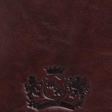 Crossbody kožená kapsa, hnedá