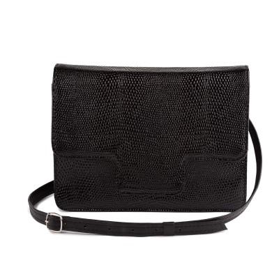 Kožená dámska kabelka, béžová