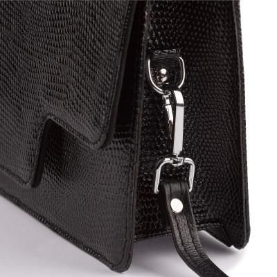 Kožená dámska kabelka, tmavomodrá