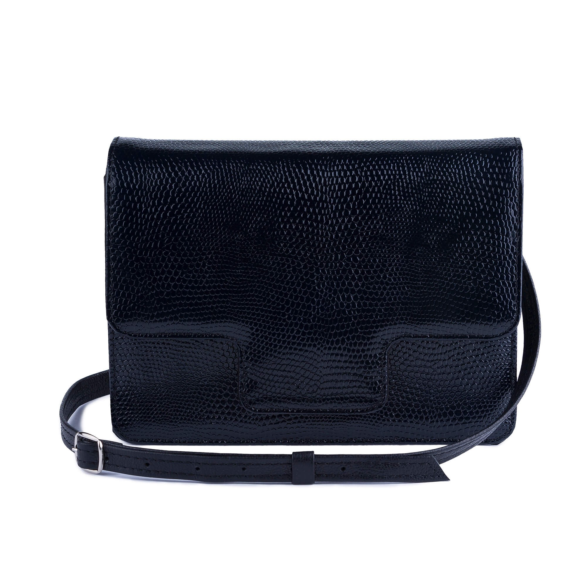 2f4c25e8b Dámska kožená kabelka, modré kroko ...