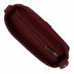 Dámska kožená crossbody kabelka, bordová