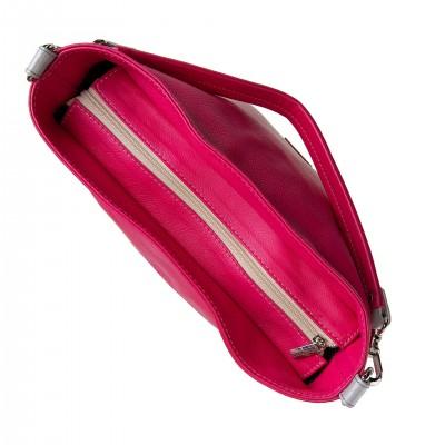 Kožená kabelka na rameno, ružová koža