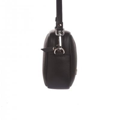 Kožená crossbody kapsička, čierna