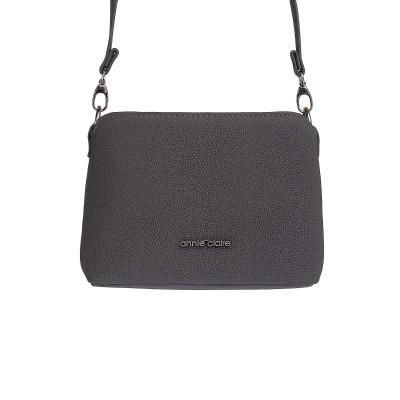 Kožená kabelka na rameno, zlato-čierna
