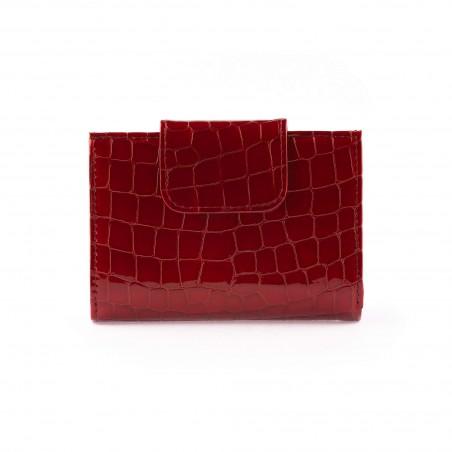 Dámska kožená peňaženka, červená lak