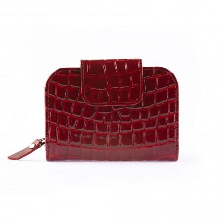 Dámska kožená peňaženka, bordová lak