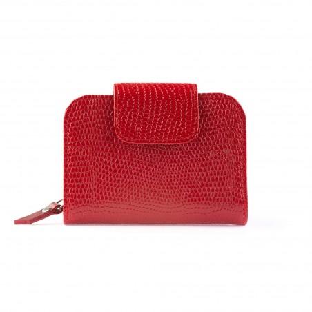 Dámska kožená peňaženka, červená
