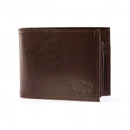Pánska kožená peňaženka, tmavohnedá