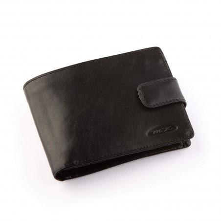 Pánska kožená peňaženka, čierna