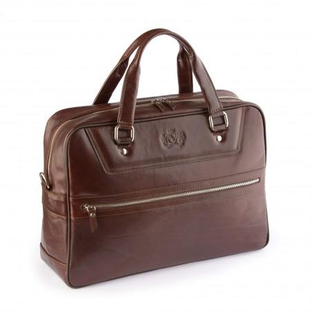 Kožená business/cestovná taška, hnedá