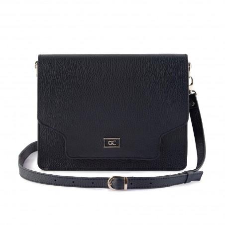 Dámska kabelka, koža, tmavomodrá
