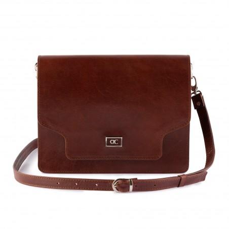Dámska kabelka, koža, hnedá