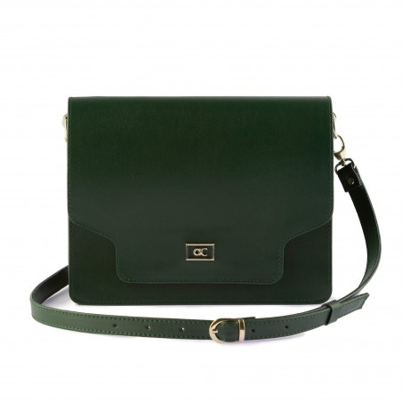 Dámska kabelka, koža, olivovo-zelená