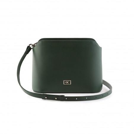 Dámska kožená kabelka cez rameno, zelená