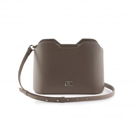 Dámska kožená kabelka cez rameno, tmavá cappuccino