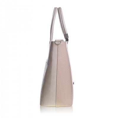 Dámska kabelka, béžová magic