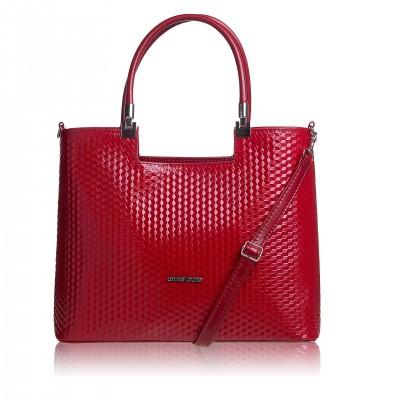 Dámska kabelka, červená magic