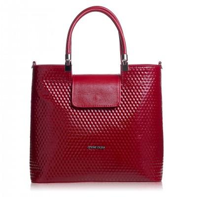 Elegantná dámska kabelka, červená magic