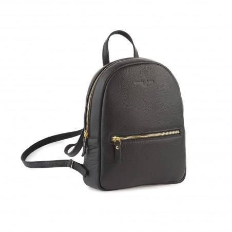 Dámsky kožený ruksak, čierny