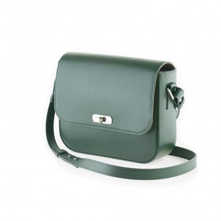 Dámska kabelka koža na rameno, zelená