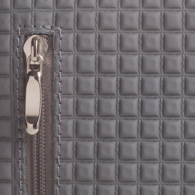 Pánska kožená kapsička crossbody , cement s čiernou napa