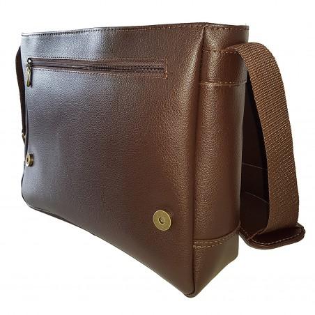 Kožená crossbody taška, hnedá soft