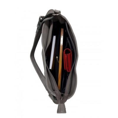 Dámska syntetická kabelka, čierna kroko