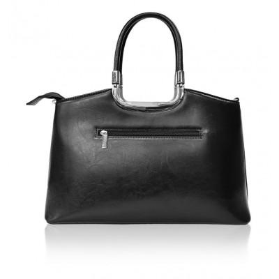 Elegantná dámska syntetická kabelka, tmavomodrá fiasola