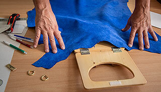 Business kožené kabelky - návrh strihu